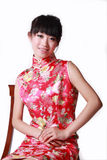 девушка платья китайца традиционная Стоковая Фотография