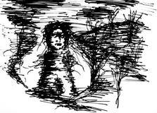 девушка привидения Стоковое Фото