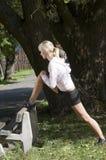 девушка снаружи Стоковое Изображение RF
