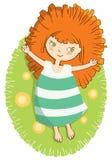 девушка солнечная Стоковое фото RF