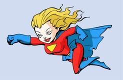 девушка супер Стоковое Изображение