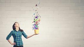 Девушка с ведром Стоковое Фото