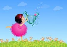 Девушка с лирой Стоковые Фотографии RF