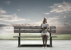 Девушка с книгой Стоковое Изображение
