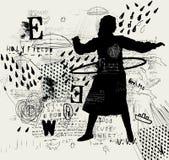 Девушка с обручем Стоковое Изображение