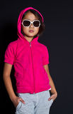 Девушка с солнечными очками Стоковые Изображения