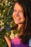 Девушка с цыпками Стоковая Фотография