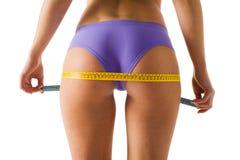девушка тела ее измерять Стоковое Изображение RF