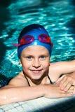 Девушка учя поплавать Стоковое Фото