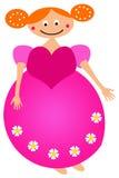 девушка цветка Стоковая Фотография