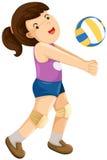 девушка шарика играя залп Стоковые Изображения RF