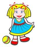 девушка шарика Стоковое Изображение RF