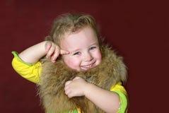 девушка шерсти Стоковая Фотография RF