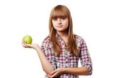 девушка яблока Стоковые Изображения RF