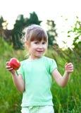девушка яблока Стоковое Фото