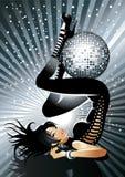 девушка диско горячая Стоковая Фотография RF