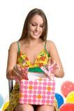 девушка дня рождения Стоковое Изображение RF
