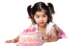 девушка дня рождения Стоковая Фотография RF