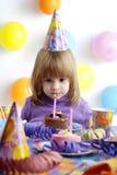 девушка дня рождения Стоковые Изображения RF