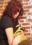 девушка backpack Стоковые Изображения RF