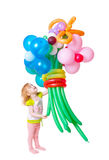 девушка ballon Стоковое Изображение