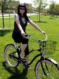 девушка bike Стоковое Изображение