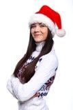 девушка christmass Стоковое Изображение