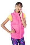 Девушка Desi вызывать Стоковые Фото
