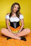 девушка halloween конфеты Стоковая Фотография RF