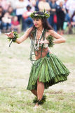 девушка hawaian Стоковая Фотография