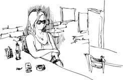 девушка spectacled Стоковое Изображение RF