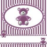 девушки медведя предпосылки младенцев Стоковое Изображение RF