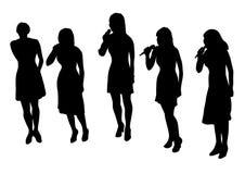 девушки пея Стоковая Фотография