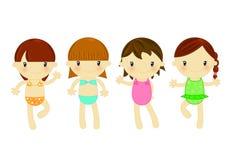 девушки способа пляжа Стоковые Фотографии RF