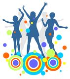 девушки танцы Стоковые Фотографии RF