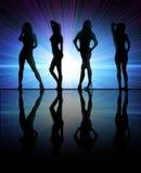 девушки танцы Стоковые Изображения RF
