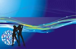 девушки диско шарика Стоковая Фотография