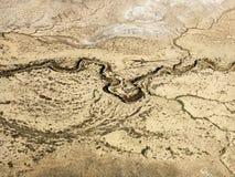 дезертируйте сухое реку Стоковая Фотография RF