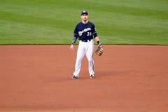 Действие высшей лиги бейсбола Стоковое Фото