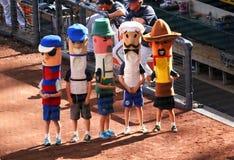 Действие высшей лиги бейсбола Стоковые Изображения