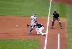 Действие высшей лиги бейсбола Стоковая Фотография