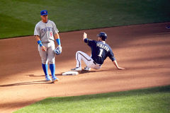 Действие высшей лиги бейсбола Стоковое Изображение