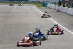 действие karting Стоковая Фотография