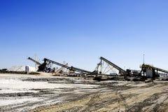 Действующая компания соляное Aigues-Mortes места Стоковое фото RF