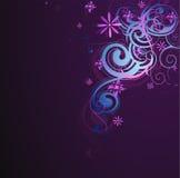 Декоративная абстракция с флористическими элементами Стоковые Фото