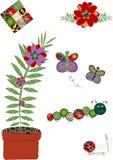 декоративная вышивка флористическая Стоковое Изображение RF