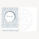 Декоративная плита бумаги с восточным дизайном Стоковые Изображения RF