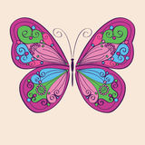 Декоративная цветастая бабочка Стоковое фото RF