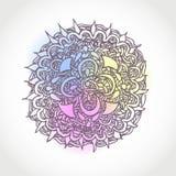 Декоративной нарисованный рукой дизайн формы круга вектора Стоковая Фотография RF