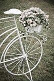 Декоративные цветки велосипеда Стоковые Фото